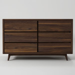 hans 6drawer walnut
