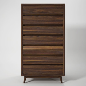 hans tall drawer walnut